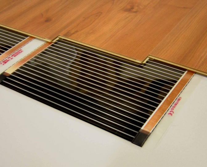 Heatfolie laminaat 42v systeem heatel - Hardhouten vloeren vloerverwarming ...